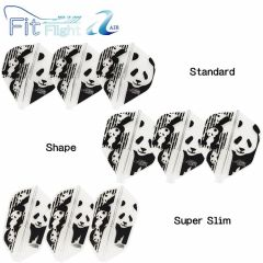 """Fit Flight AIR(薄鏢翼)"" COSMO DARTS Printed Series Panda(熊貓) [Standard/Shape/Super Slim]"