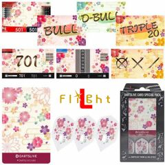 """DARTSLIVE"" L-Flight PRO Special Pack CARD 鏢翼 + 卡片 + 主題<Sakura(櫻)>"