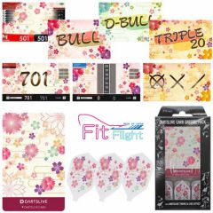 """DARTSLIVE"" Fit Flight Special Pack CARD 鏢翼 + 卡片 + 主題 <Sakura(櫻)>"
