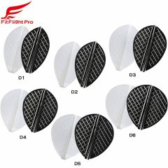 """Fit Flight Pro"" Cosmo darts D-Type [White/D Black]"
