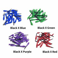 """NATURAL 9"" L-style Premium Lippoint Gradation Black 30pieces [2BA] 鏢針"