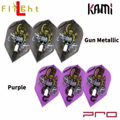 """Flight-L"" DYNASTY PRO KAMI RYUKI ver.2 森窪龍己 (Ryuki Morikubo) 選手款 [Gun Metallic/Purple]"