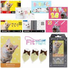 """""""DARTSLIVE"""" Fit Flight Special Pack CARD  鏢翼 + 卡片 + 主題 <Cat(貓)>"""